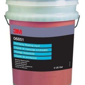 Overspray Masking Liquid Dry 06851, 5 Gallon 3M-6851