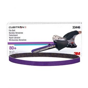 3M Cubitron II File Belt 786F, 12.7mm x 457.2mm, P80+, Qty of 10