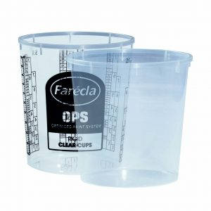 Farecla 650ml Rigid Cups for OPS Flexible System 200 Pack Printed