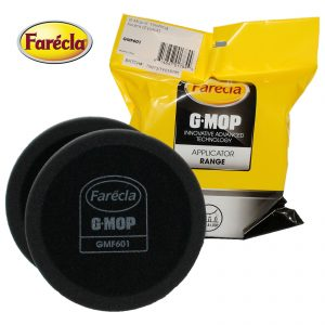 "Farecla GMF601 GMop Finishing Polish Foam 2 Pack 6"" 150mm Black Hook & Loop"