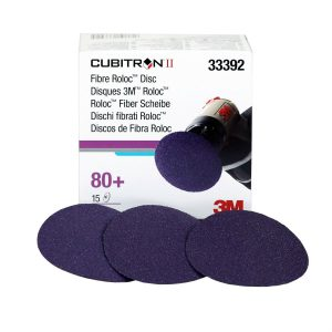 3M Cubitron II Roloc Fibre Disc 786C, 75mm, P80, Qty of 15