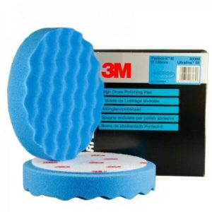 2 x 3M Perfect-it III Fast Cut Plus Compounding Pad 150mm Blue 50388
