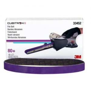 3M 33452 Cubitron II File Belt, 20mm x 520mm (3/4 in X 20 1/2 in), 80+ grade,