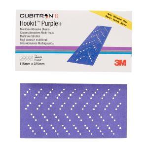 3M 51403 Cubitron II Hookit Clean Sanding Abrasive Sheet 737U, 220+, 115 x 225mm