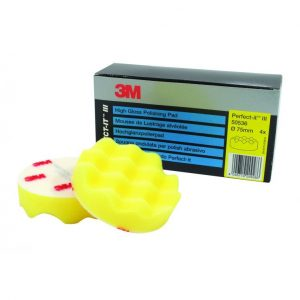 "3M Perfect-it III Polishing Pad Yellow 50536 3"" 75mm Pack of 4 Pads"